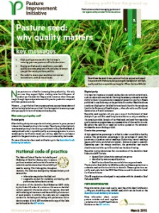 Pasture seed quality factsheet